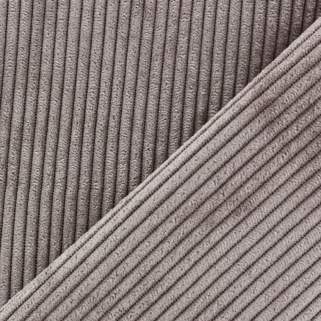 Tissu velours à grosses côtes Lisboa - brun x10cm