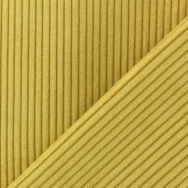 Tissu velours à grosses côtes Lisboa - moutarde x10cm