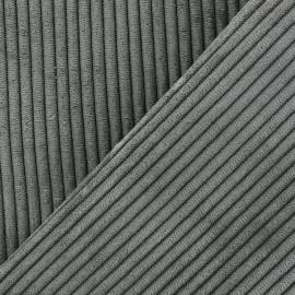 Tissu velours à grosses côtes Lisboa - vert de gris x10cm