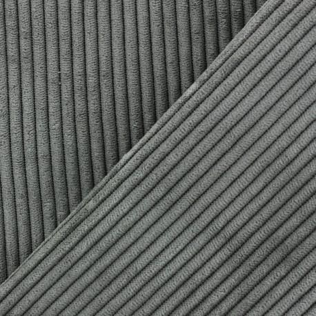 Lisboa corduroy fabric - green grey x 10cm
