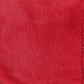 Tissu fourrure Ourson - rouge x 10cm