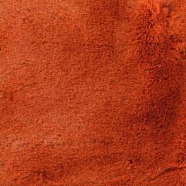 Tissu fourrure Ourson - roux x 10cm