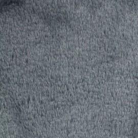 Tissu fourrure Ourson - gris x 10cm