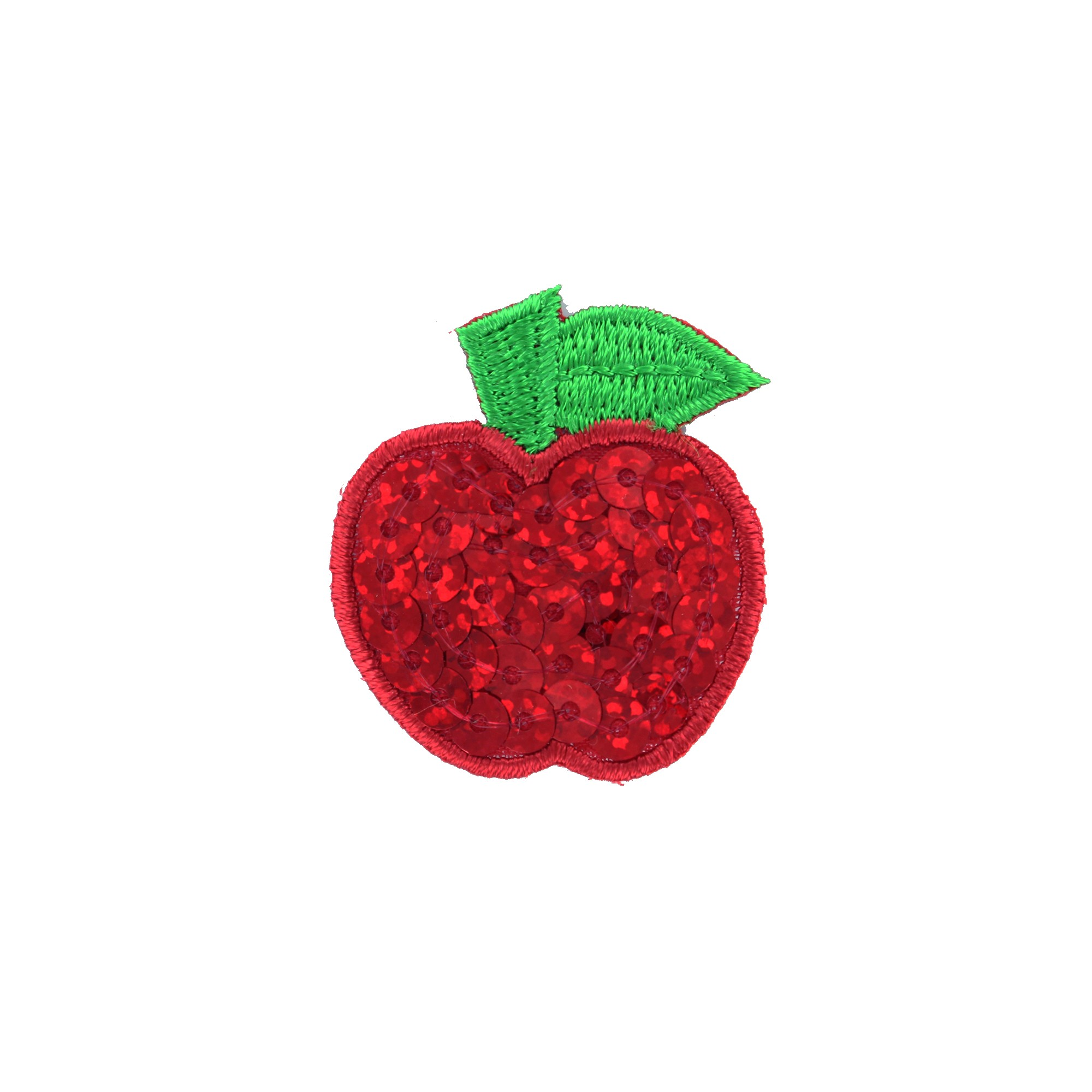 Brodé Thermocollant Rouge Sequins Fruit Pomme xBCdroeW