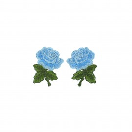 Thermocollant Old School Flower (1paire) - mini rose bleu