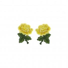 Thermocollant Old School Flower (1paire) - mini rose jaune