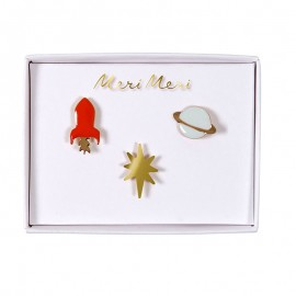 Meri Meri lapel pin - Space