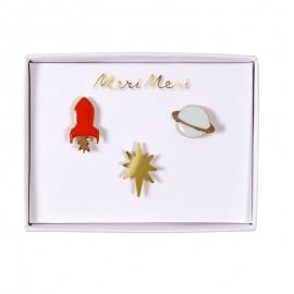 Meri Meri lapel pin - Space