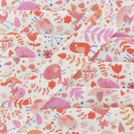 Quatre Saisons Bias binding 19mm - pink  x1m