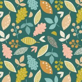 Tissu coton Dashwood Harvestwood - Falling Leaves x 15cm