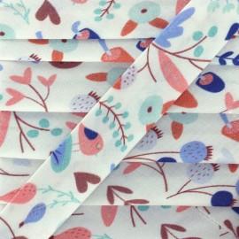 Biais Quatre Saisons 19mm - automne bleu x 1m