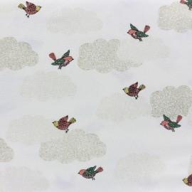 ♥ Coupon de tissu 300 cm X 110 cm ♥ Tissu coton Makower UK Doodle Days Clouds - ivoire