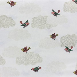 Makower UK cotton fabric  Doodle Days Clouds - ivory x 20cm