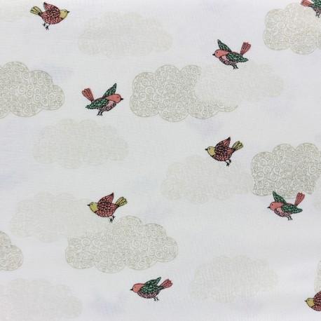 Makower UK cotton fabric  Doodle Days Clouds - ivory x 20cm