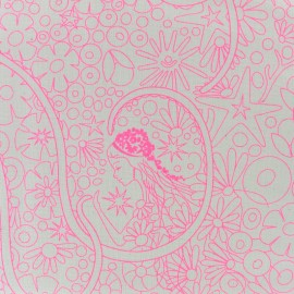 Tissu coton Andover Fabrics Patt Pearl - rose/blanc x 30cm