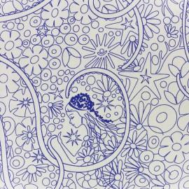 Tissu coton Andover Fabrics Patt Pearl - rose/bleu x 30cm