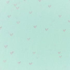 Hoffman fabrics Birds - mint green/silver x 10cm