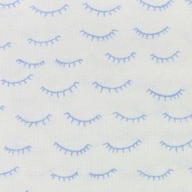 Tissu Dear Stella Winks - blanc x 10cm