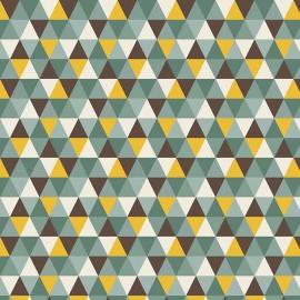 Tissu coton Riley Blake Giraffe - Multicolore x 10cm