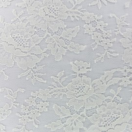Oeko-Tex Lace of Calais® Fabric Floraison - ivory x 20cm