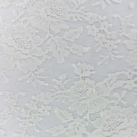 Tissu Oeko-Tex Dentelle de Calais® Floraison -  ivoire x 20cm