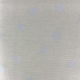 Tissu toile de coton Aspect Lin Rico design - étoiles argent x 10cm