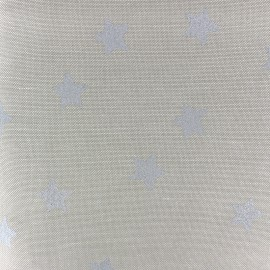 Tissu toile de coto Rico design Stars - étoiles argent x 10cm