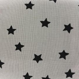 Tissu toile de coton Rico design Stars - étoiles noir x 10cm