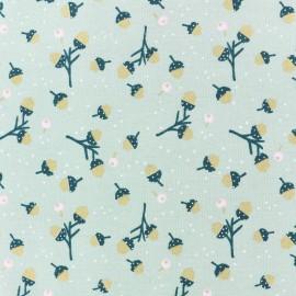 Tissu coton Rico Design Classical Christmas - vert gland doré x 10cm
