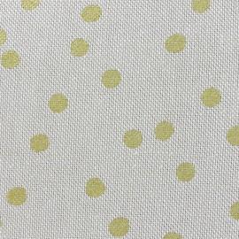 Tissu toile de coton Aspect Lin Rico design - pois or x 10cm
