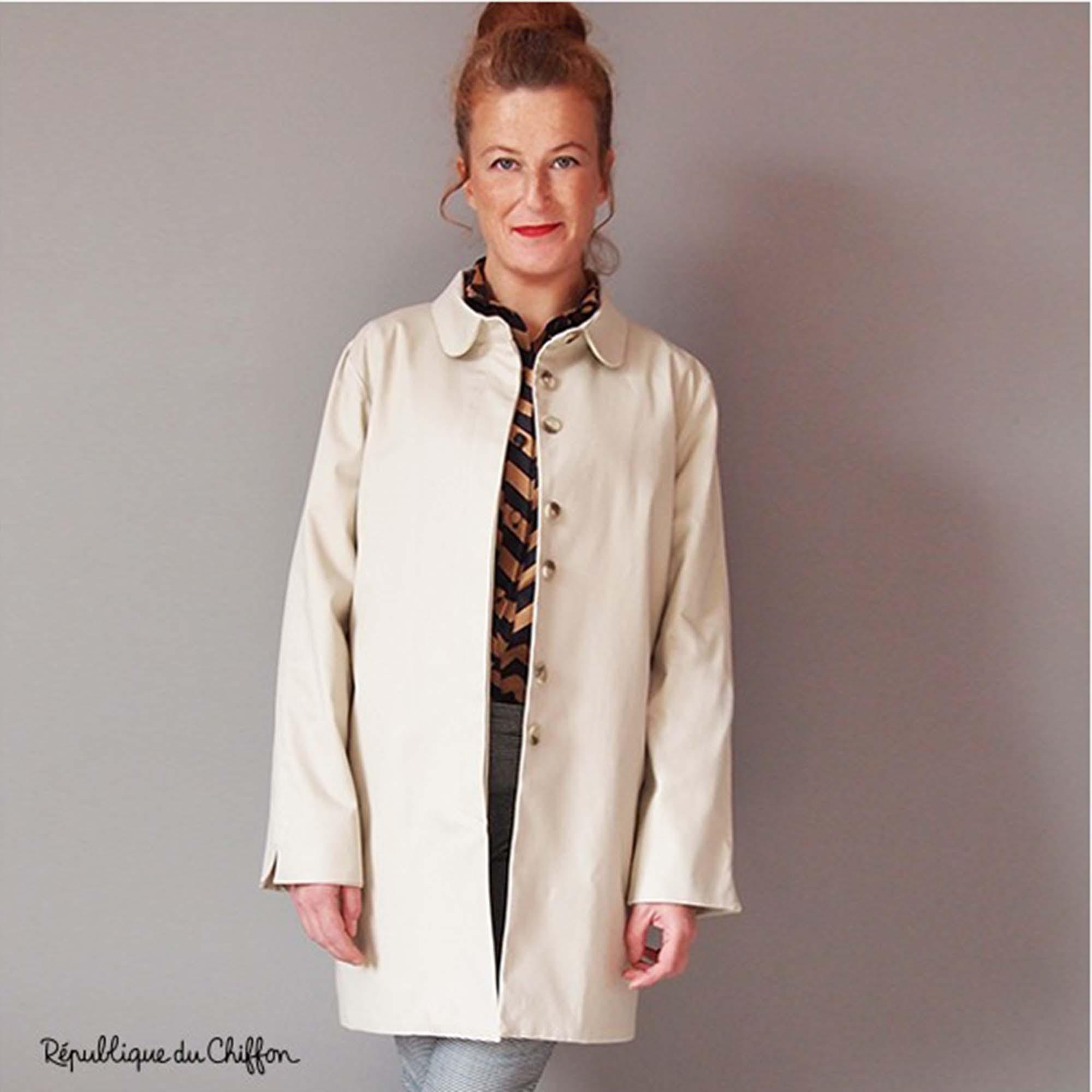 Femme Du Roger Trench République Patron Chiffon Couture 0wPXNn8Ok