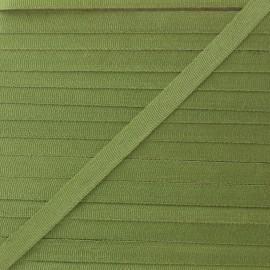 Ruban aspect soie 4 mm - avocat  x 1 m
