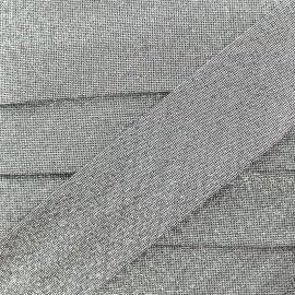 Party Lurex bias binding 30mm - silver x 1m