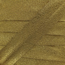 Party Lurex bias binding 30mm - gold x 1m