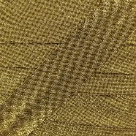 Party Lurex bias binding 30mm - gold x 1m
