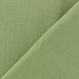 Cotton fabric half braided Vintage -  light green x 10cm
