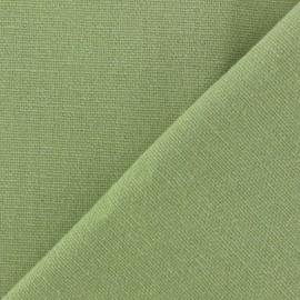 Tissu toile de coton uni Demi Natté Vintage - vert clair x 10cm