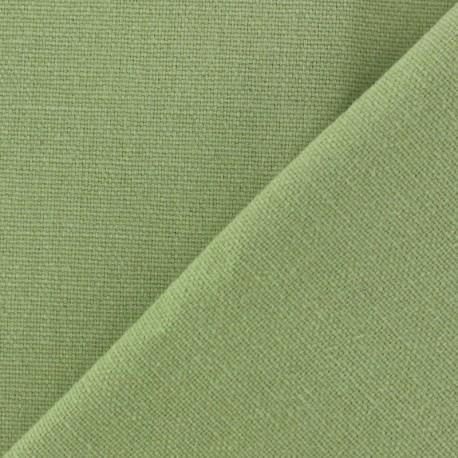 Cotton fabric half braided Vintage -  light green x 10cm