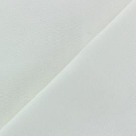 Tissu toile de coton uni Demi Natté Vintage - blanc x 10cm