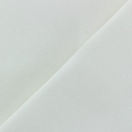 Cotton fabric half braided Vintage -  white x 10cm