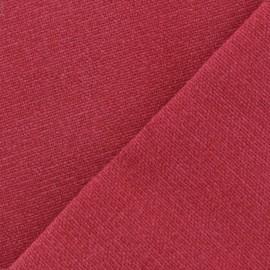 Tissu toile de coton uni Demi Natté Vintage - cerise x 10cm
