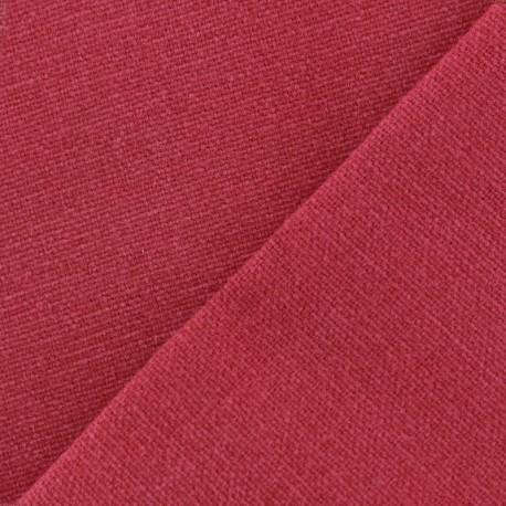 Tissu toile de coton uni demi natt vintage rouge cerise - Tissu ameublement vintage ...
