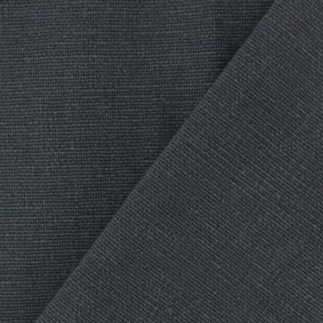 Tissu toile de coton uni Demi Natté Vintage - anthracite x 10cm