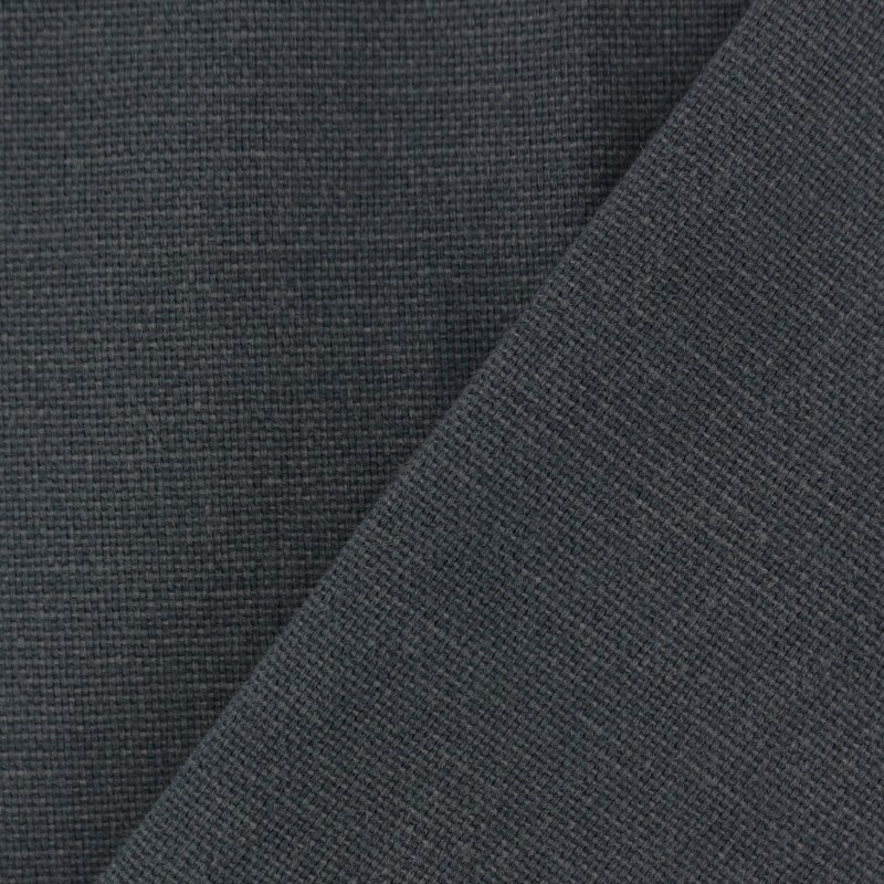 Tissu toile de coton uni demi natt vintage anthracite - Tissu ameublement vintage ...
