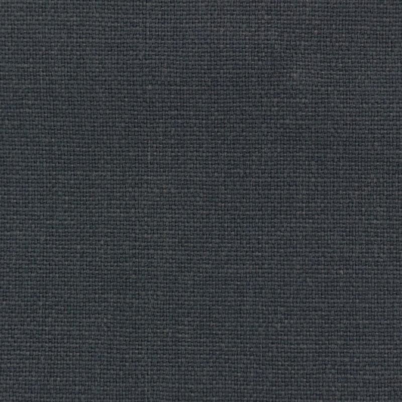 Tissu toile de coton uni demi natt vintage anthracite - Toile de coton synonyme ...