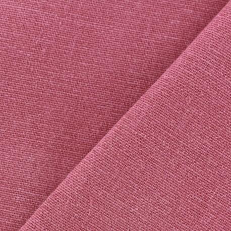 Tissu toile de coton uni Demi Natté Vintage - framboise x 10cm