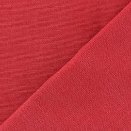 Tissu toile de coton uni Demi Natté Vintage - rouge x 10cm