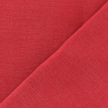 Cotton fabric half braided Vintage - red x 10cm
