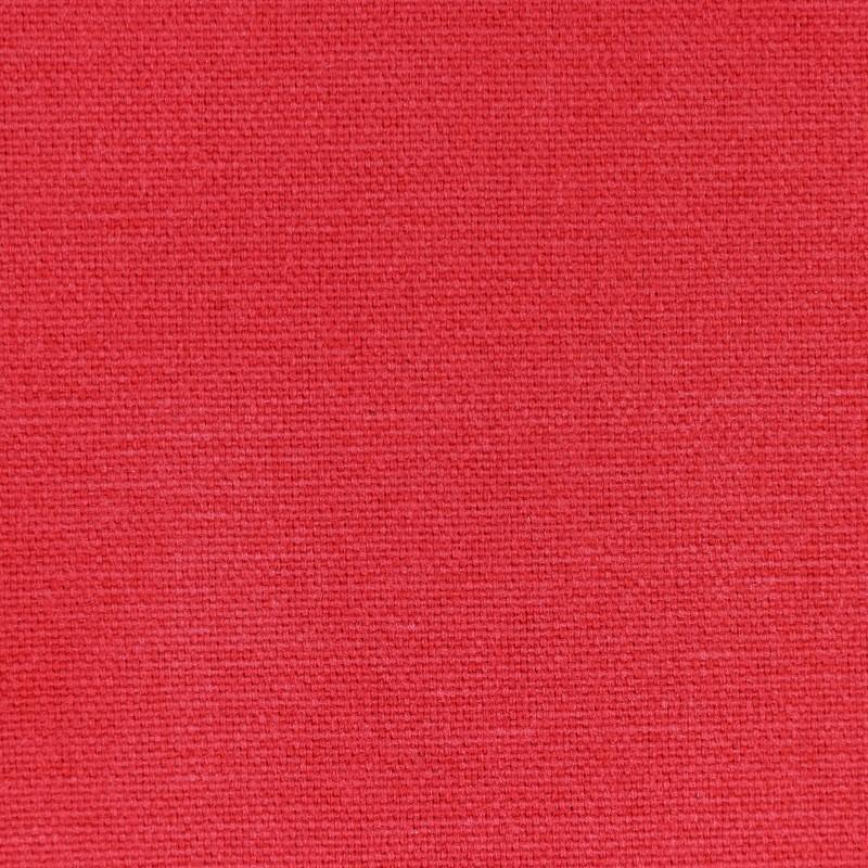 Tissu toile de coton uni demi natt vintage rouge - Tissu ameublement vintage ...