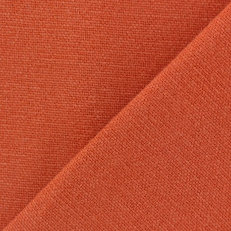 Cotton fabric half braided Vintage - orange x 10cm